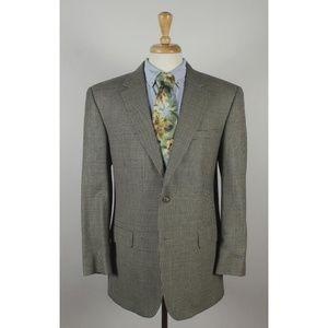 #JosABank 42R Beige Silk/Wool 2B Sport Coat 0194